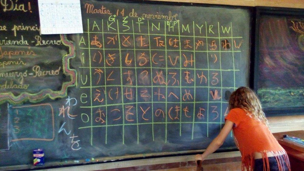 娘の通う学校で、不定期で日本語を教えたりもします。