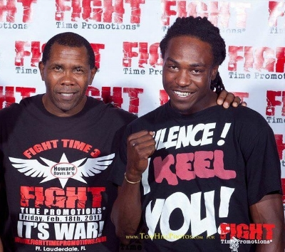 Jason Jackson alongside Fight Time Promotions founder and U.S. Olympian Howard Davis Jr.