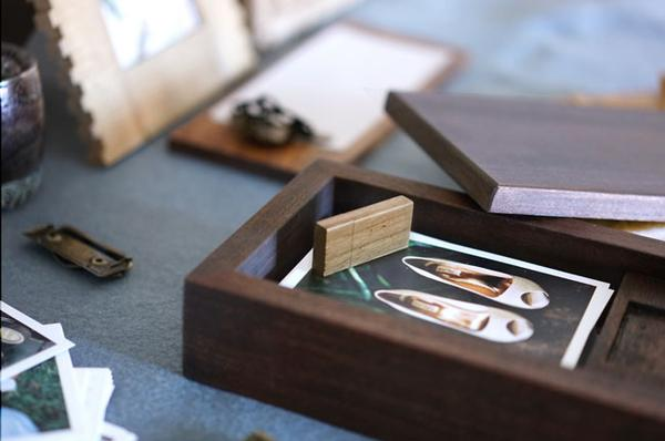 Every one of our packages come with a custom wooden USB inside a handcrafted wooden box.