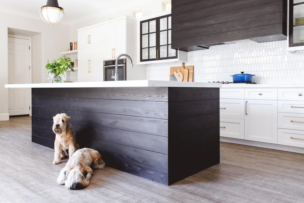 savvy interiors San Diego kitchen remodel high contrast kitchen