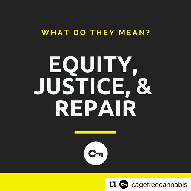 """#Repost @cagefreecannabis with @get_repost ・・・ Equity, Justice, & Repair: 🔑 We use these terms a lot, but not everyone knows what they mean. 👉 People often treat these words like elastic, but in the context of the cannabis industry, they have very specific definitions. 💰 For example, """"equity"""" does not include workforce development unless we're talking about worker-owners. Equity is about ownership of businesses. Full stop. ❓If you have questions about these words and the ideas behind them, feel free to reach out.  #cannabis #ethicalcannabis #cannabiscommunity #endthewarondrugs #socialjustice #criminaljusticereform #drugpolicy #ethics #csr #socialresponsibility #420 #420justice #thc #cbd #weed #expungement #legalaid #grass #herb #economicempowerment #healthequity #cannabisindustry #legalrelief #socialequity  #equity #justice #repair"""