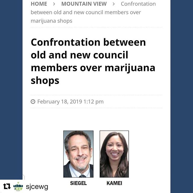 """ATTN SAN JOSE  #Repost @sjcewg with @get_repost ・・・ Tomorrow 6:30pm. Mt. View City Hall. It's going to be a showdown.  @gocaliva@shopmedmen@svcannalliance and your favorite underdogs will be in the building. But first here is a quick background on the controversy:  68% of Mt. View residents voted for Prop 64 and 81% voted to tax cannabis two years later. Tomorrow, newly elected Mayor Ellen Kamei wants to rollback the cannabis ordinance set in place by the previous Mayor Lenny Siegel. Ex-Mayor Siegel confronted Mayor Kamei publicly and is quoted as saying""""It's simply bad policy, bad governing, and bad misrepresentation of the people the City Council is supposed to serve."""" The spreading of anti-cannabis propaganda by conservative members of the Asian community is the reactionary pressure Mt. View City Council is responding to, we witnessed it first hand last October when council voted to allow cannabis retail.  We did our research and know just what to say tomorrow.  School's about to be in session. ✊🏽✊🏽✊🏽 #cannabisequity #southbay #sanjose #santaclaracounty #cannabisculture #ganjier #workworkwork"""