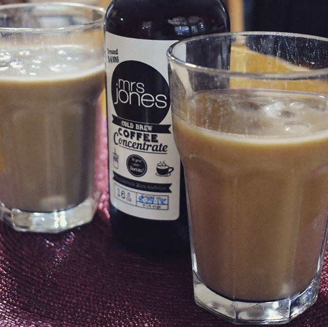 We're enjoying our Saturday morning with some of @mrs.jones_coffee cold brew coffee. It's concentrated which means less acidic, this one has double the caffeine, and super delicious hot or cold! How do you like your coffee? . . . Post credit : @rosalielizabethhozian . . . #coffee #smallbusiness #coldbrew #pensacola #pensacolabeach #palafoxmarket #perdidokey #destin #30a #seasidemarket #beyourownbarista #saturdaymornings #locallyroasted #hotorcold #icedcoffee #icedcoldbrew #hotcoldbrew #nodairy #nosweetner #nopreservatives #nongmo #caffiene #caffieneaddict #plantheday #getstarted #wakeup