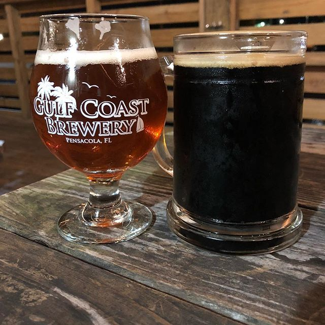 It's not often I get the day off but when I do, we support the locals. @gulfcoastbrewery is one of my favorite spots. Cheers 🍻 . . . #beer #saturdaynight #brewery #localbusinesses #coffeeporter #mindbender #ipa #shoplocal #woodworker #pensacola #downtownpensacola #nightout #outonthetown #dayoff #selfcare #localcraft #craftbeer #datenight #doubledate #movienight #asimplefavor #pensacraft