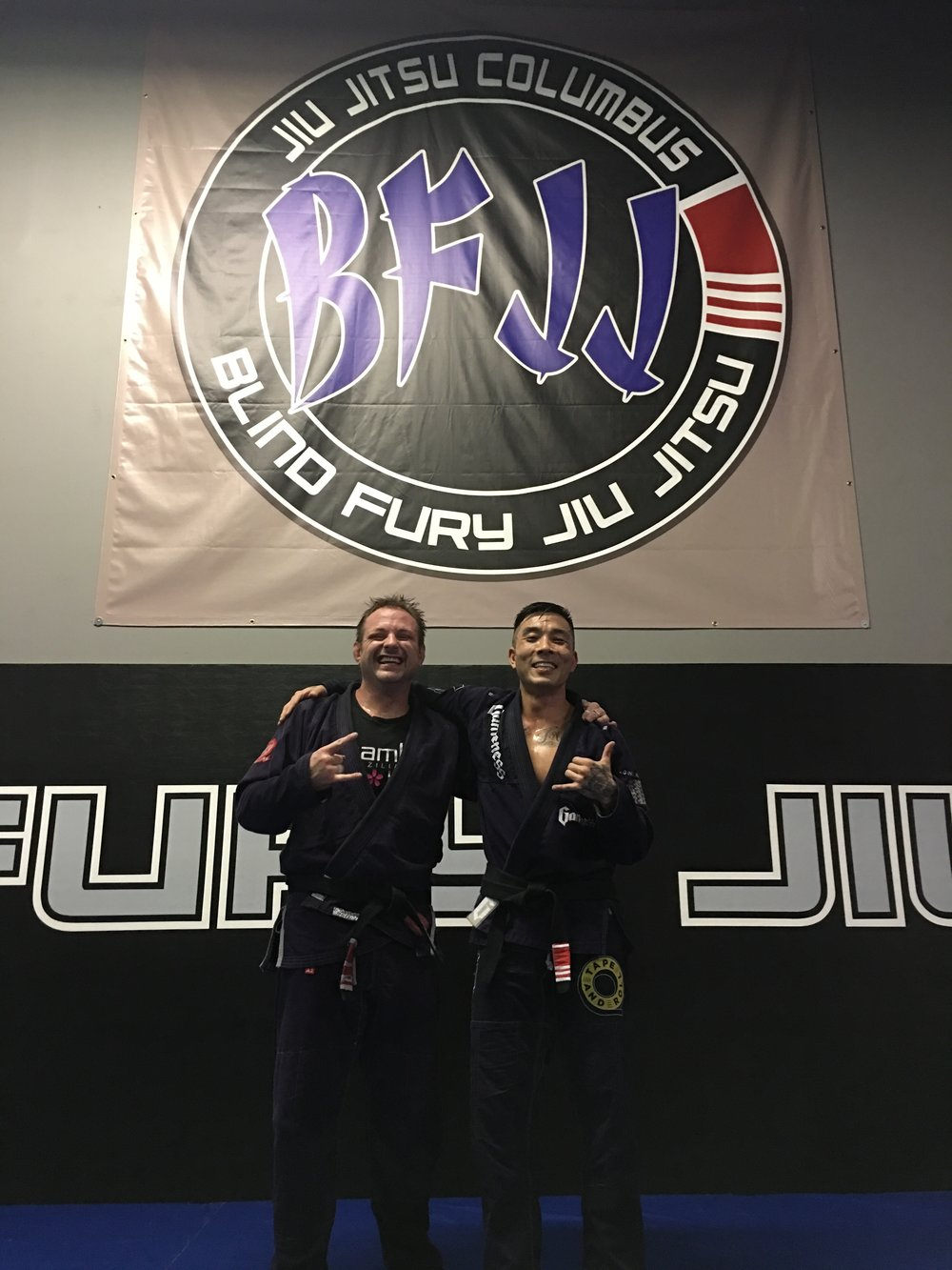 Jason Keaton and Prof. Kenny at Jiu Jitsu Columbus