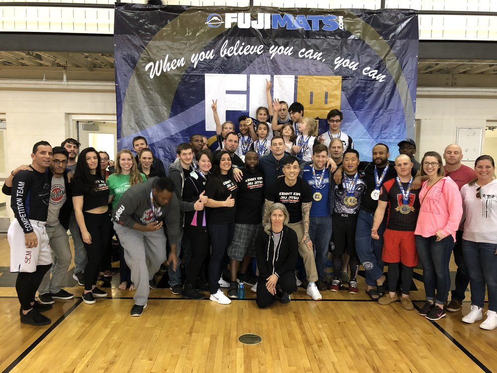 What a day! We attended the FUJI BJJ Georgia State Championships and had a blast! Our kids and adults team represented well and won the team trophy 🏆 for Adults and Overall. I am extremely proud of everyone's accomplishments and dedication to the sport and our team. Special shout out to Professor  Gazzy Parman  for making little killer kids,  Kenny Seger ,  Dustin R. Waters  and  Will Edmondson  for their leadership. What a fun day and can't wait to do it again!  #aresbjjkennykim