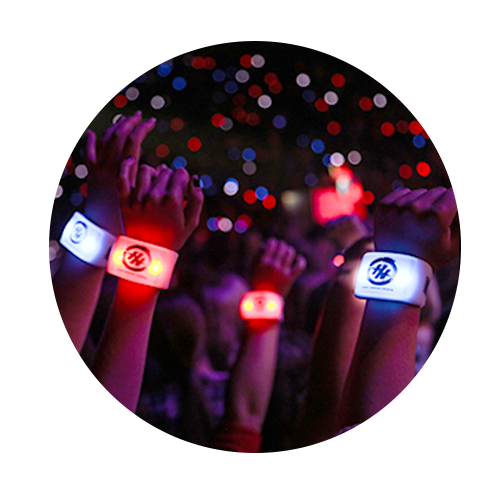 LED SYNCED WRISTBANDS