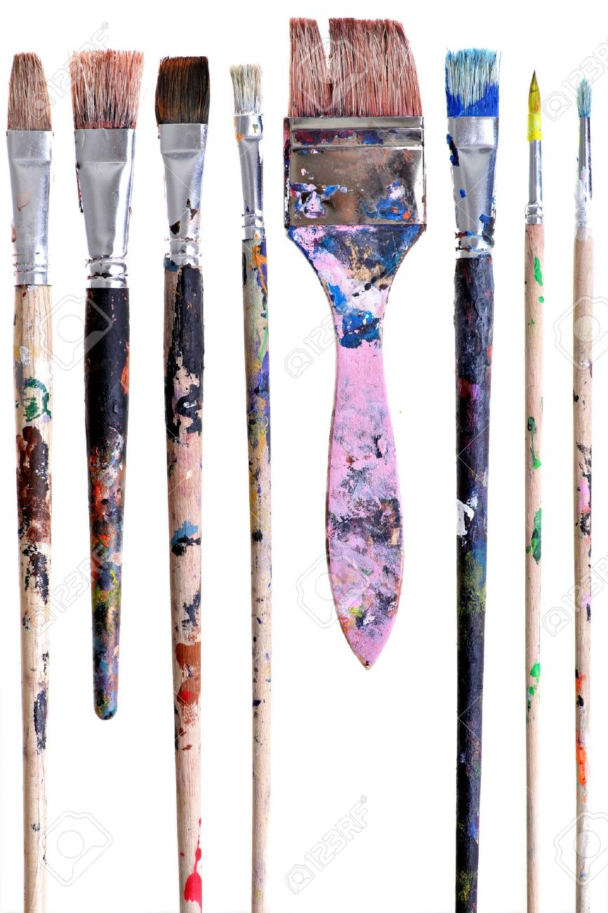 13008153-Various-dirty-paint-brushes-displayed-side-by-side-Stock-Photo.jpg