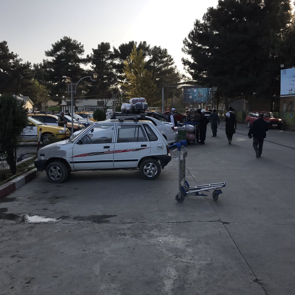 I picture I took in parking lot C at Hamid Karzai International Airport in Kabul Afghanistan right after landing.