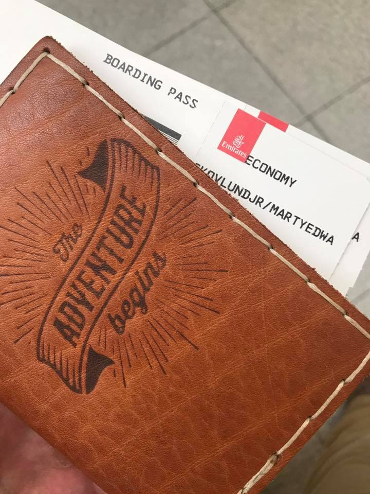 My passport and tickets to Kabul. Arguably the two most important things to remember before heading to the airport in New York City.