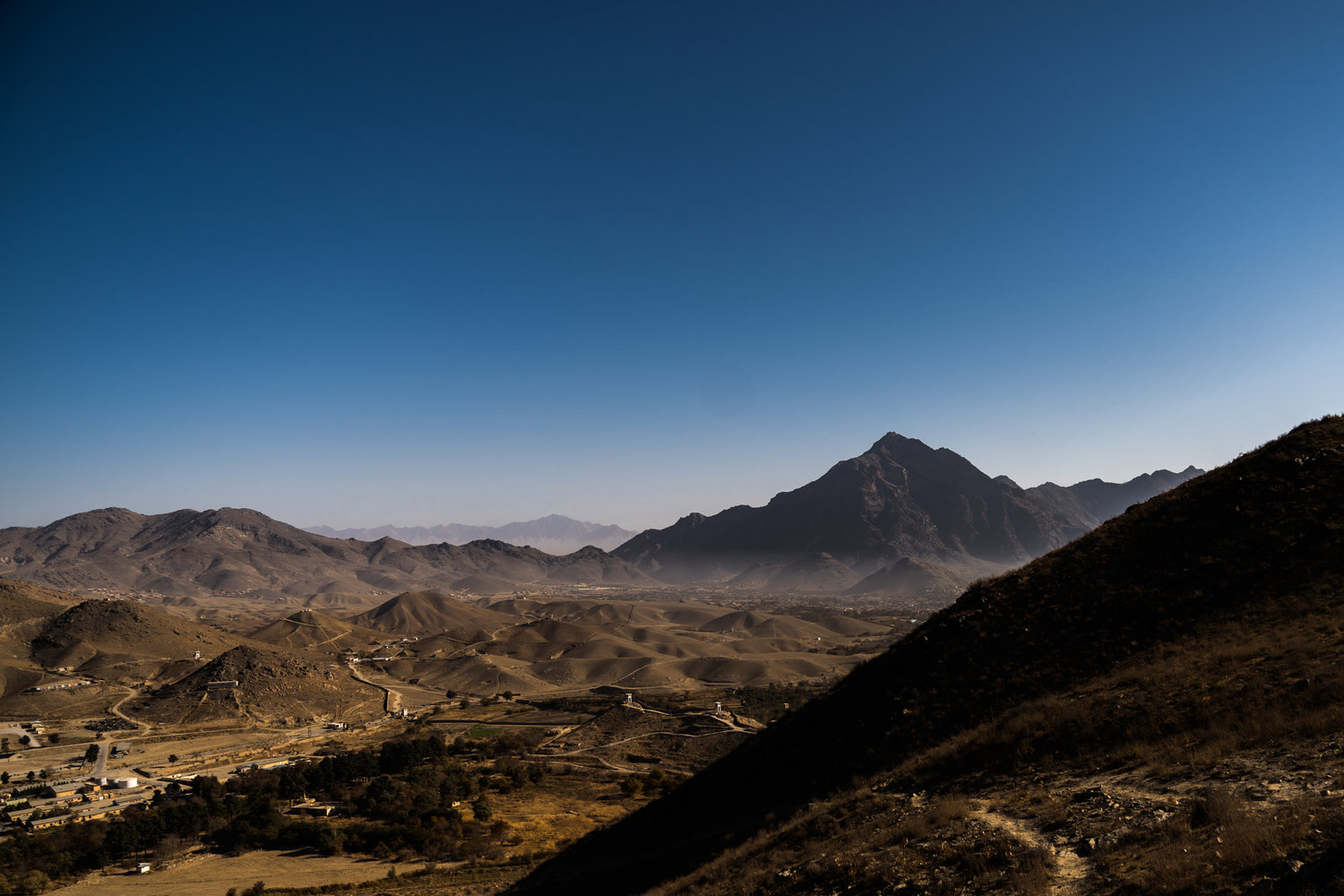 From my vantage point on a ridge just above Camp Morehead, I had a stunning view of the mountains that surround Kabul.