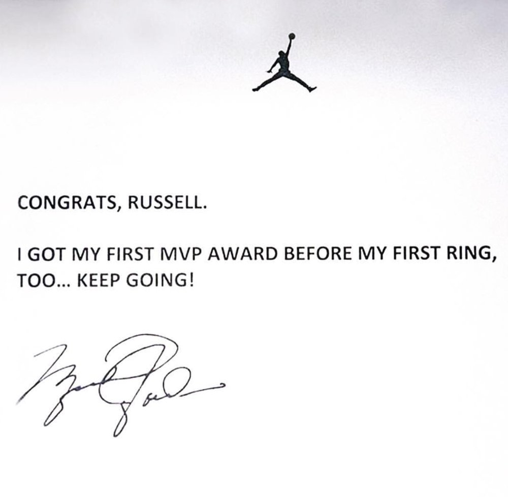 MVP 2017 - To: Russell WestbrookFrom: The Goat