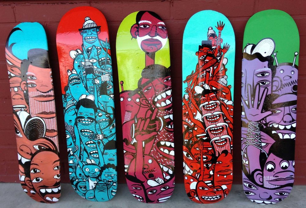 JOSEPH BROOKS - COMMISSION: SKATE BOARD DECKS