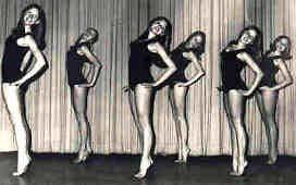 Jr. Elite 1964-67  Anne Ribane, Anne Kuus, Katrin Kuus, Ritta Lazdins, Valve Leemat, Susanne Mihkelson , Kim Molligan, Riina Reitav