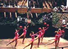 Sr. Elite 1970 performing on a floating stage in Japan