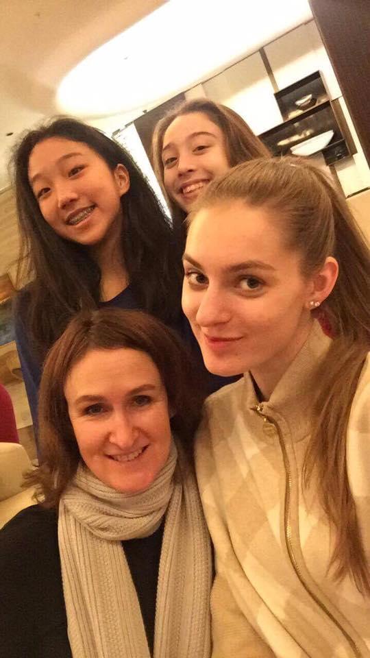 Carmel, Joy, and Sienna with Janika