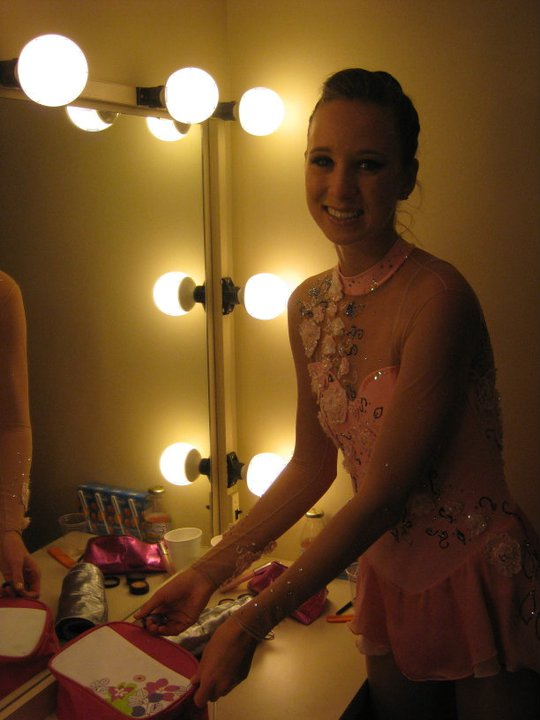 Backstage ready for our performance at the 2011 Koop Cup