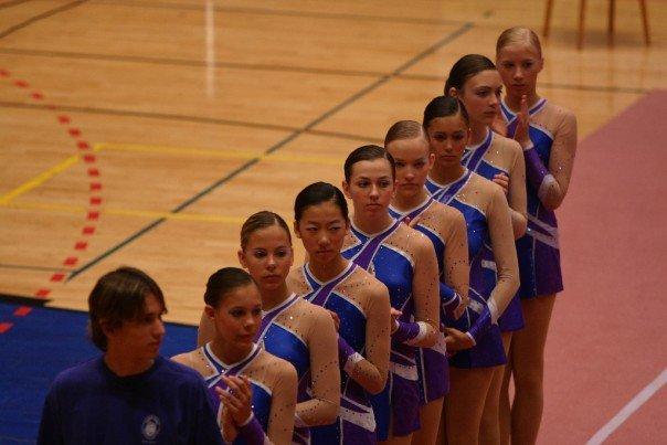 AGG Team competing in the Czech Republic - with Kerstin Koop, Katriina Isberg , Esther Chi , Christina Koop, Ashley J. Hassard , Nina Dobrev, Dasha  Lukashova ,  Stephanie Koop .2014