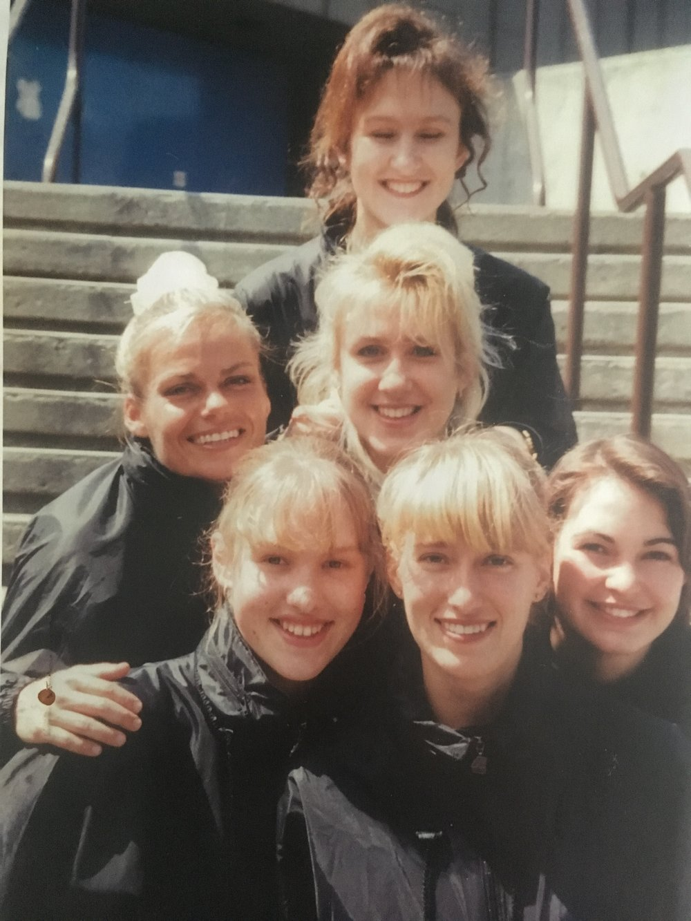 Tuulika, Inge F., Heli Oder, Alexis M., Jenny M., and Janika in Vancouver