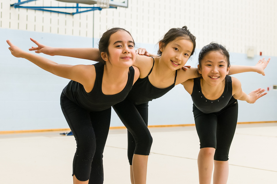 Audrey, Paula, and Julianne at practice