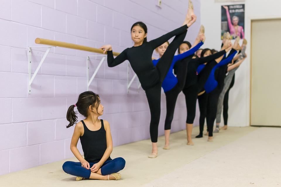 Sasha's gymnasts at practice