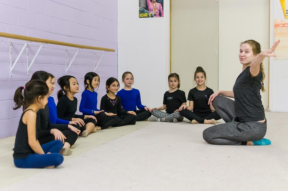 From the Elite Rhythmic Centre, girls in training