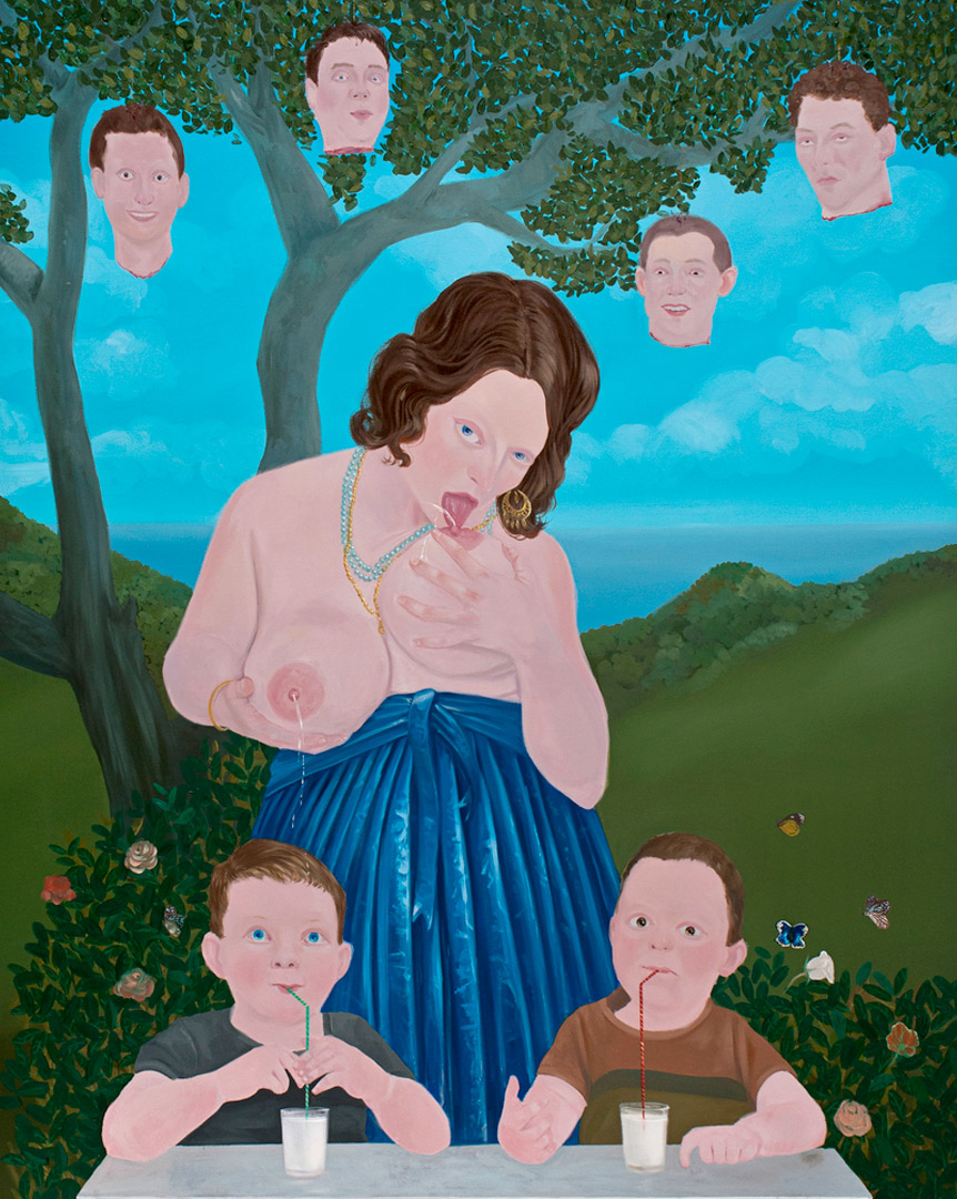 Save Me with Your Fire V, 210x160cm, oil on canvas, 2012  (Private Collection)