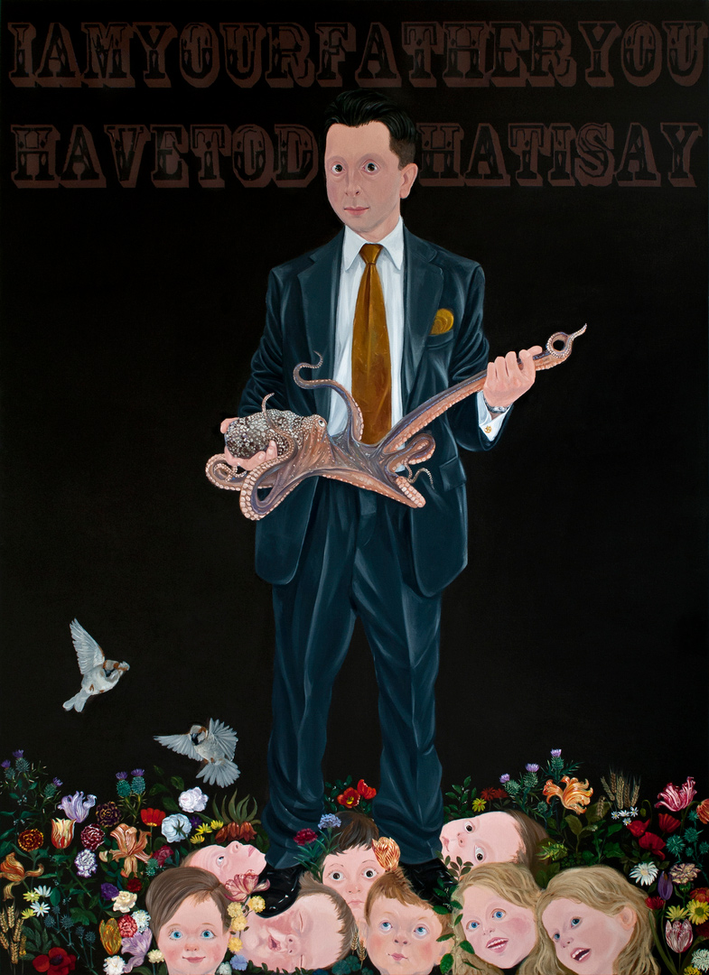 Protect Me With Your Fire II, 185x210cm, oil on canvas, 2012  (Private Collection)