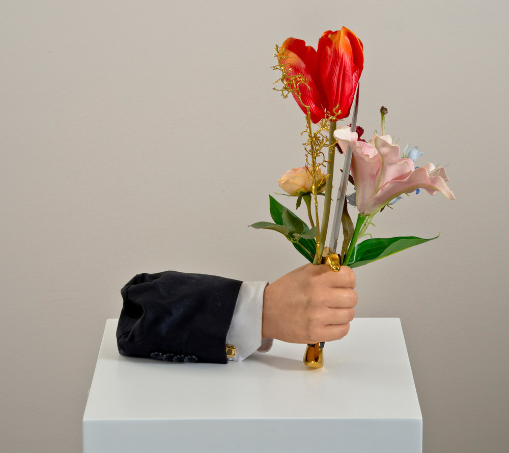 Do You Like Surprises?, 30x23cm(x3), polyester cast and found objects, 2013  (Private Collection)