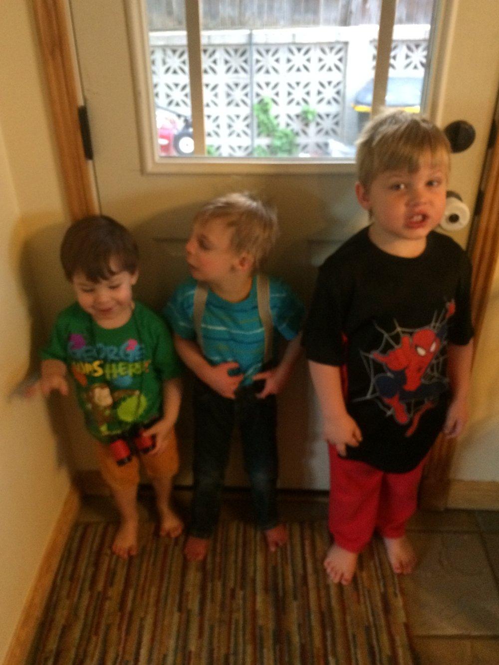 Everett, Atticus, and Damien, September 2016