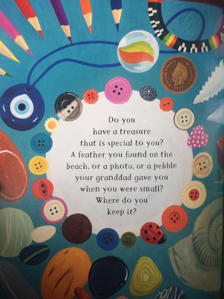A gorgeous illustration from The Barefoot Book of Children about childhood treasures.