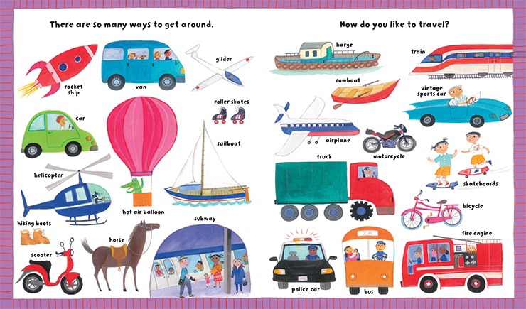 My Big Barefoot Book of Wonderful Words children's literature transportation illustration