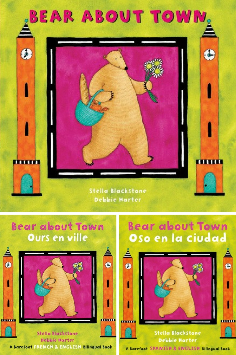 Bear about Town / Ours en ville / Oso en la ciudad, by Stella Blackstone and Debbie Harter