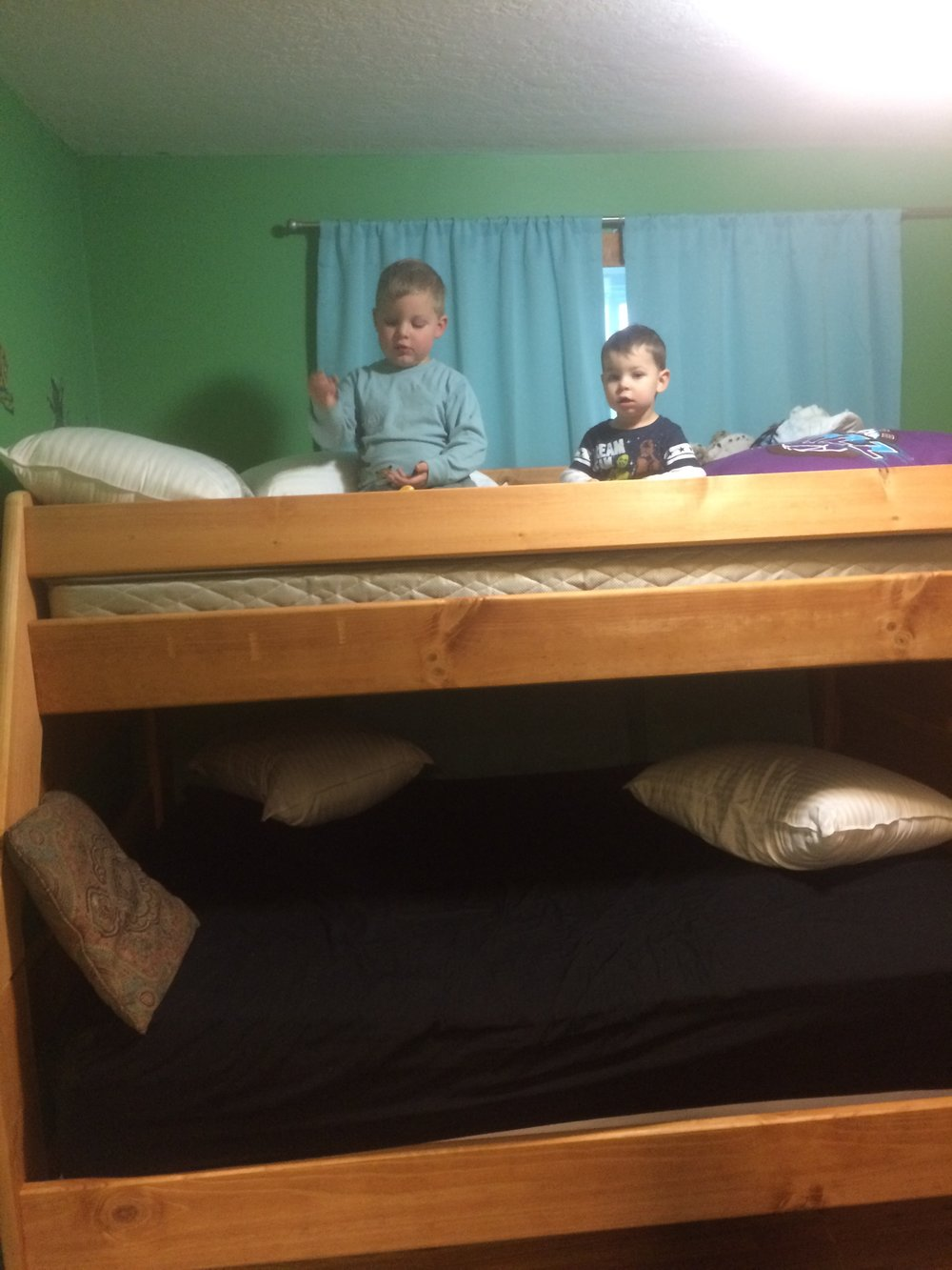 Damien and Everett got bunk beds.
