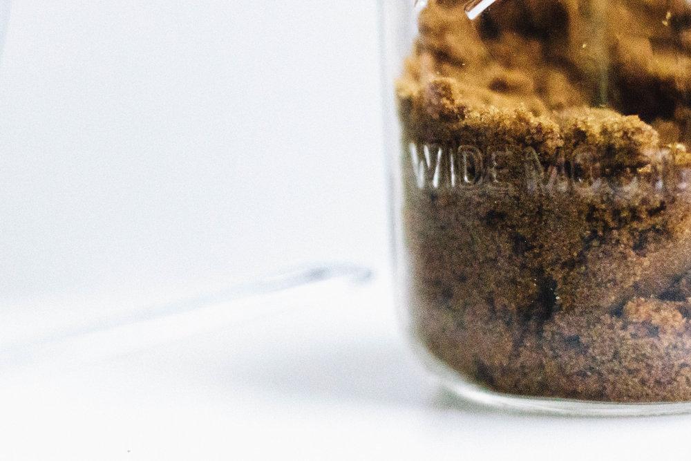 nutmeg and pear | chocolate chunk almond butter blondies w/muscavado (gluten & dairy free)