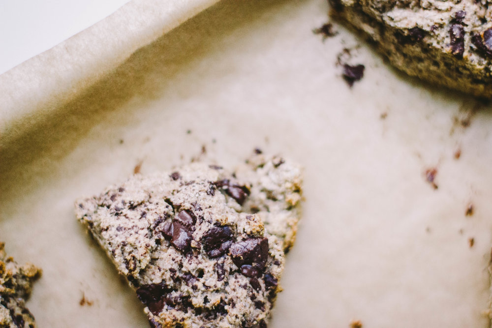 dark chocolate + cardamom scones