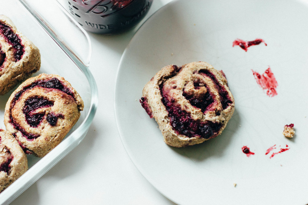 buckwheat, blackberry & rosemary rolls