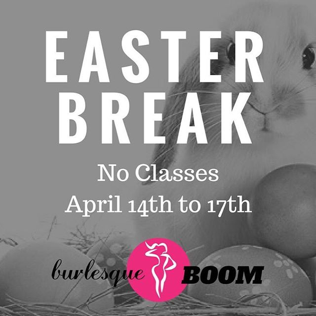 Easter is coming up this weekend so classes will be cancelled at ALL locations Friday through Monday!  We hope you enjoy the time with your family! . #burlesqueboom #dancesweatboom #burlesque #fitness #yegfitness #yegfit #yegburlesque #yegdance #yeg #easter #easterbreak