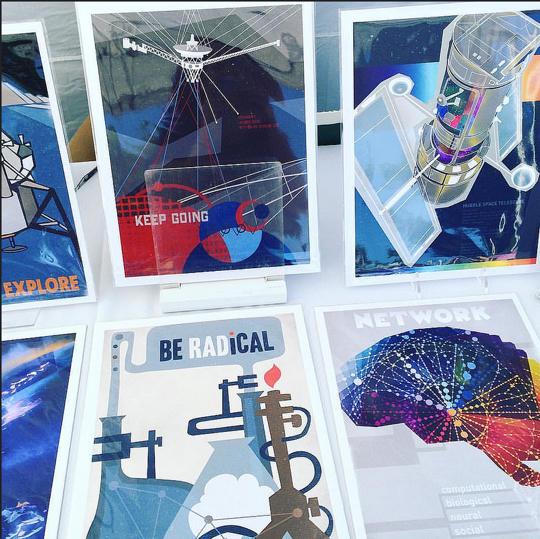 Stellar Science Series prints by Jedediah Dore, @jedidore. Credit : Hayley Gillespie  Art.Science.Gallery
