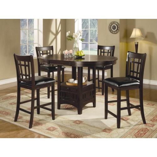 102888 5 Pc Pub Style Dinette Casa Bella Furniture Quality Furniture Home Goods