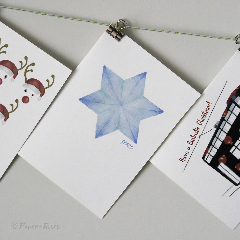 Paper-Roses   Festive shop   Starflake holiday card