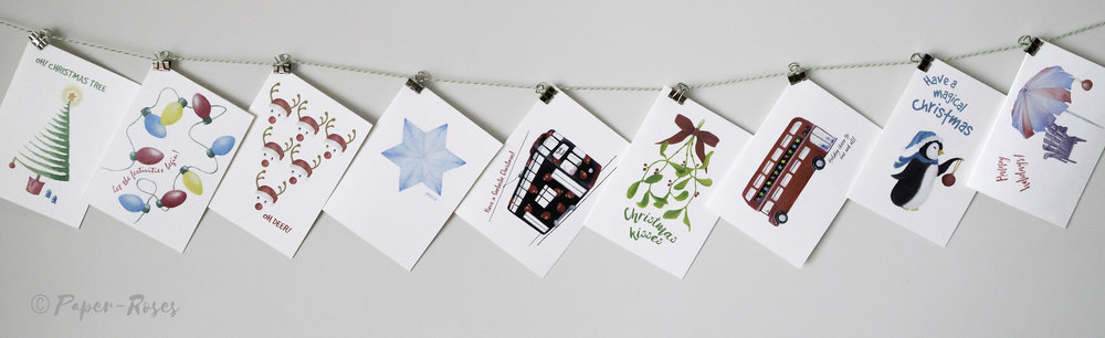 Paper-Roses   Festive shop   Greetings cards