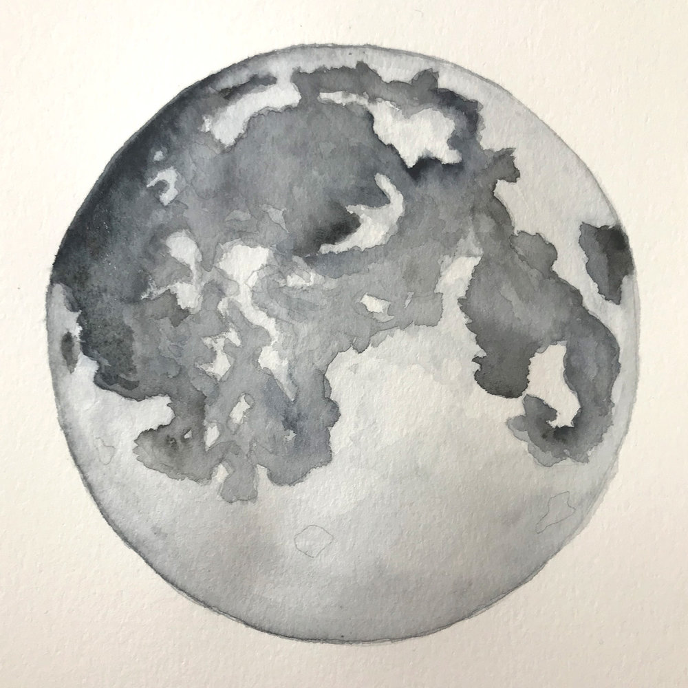 Paper-Roses | Original artwork by Penny Creedon | Full moon | Image 2