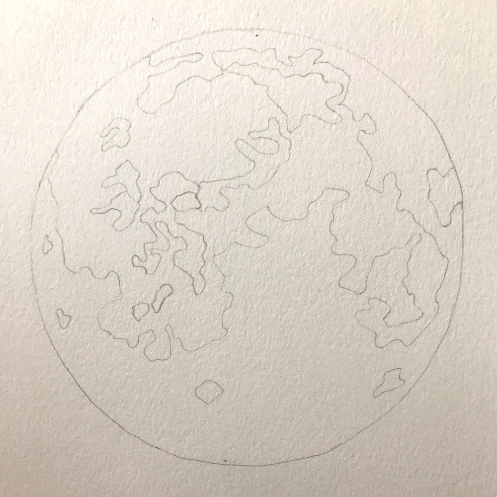 Paper-Roses | Original artwork by Penny Creedon | Full moon | Image 1