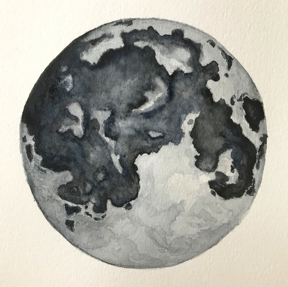 Paper-Roses | Original artwork by Penny Creedon | Full moon | Image 3