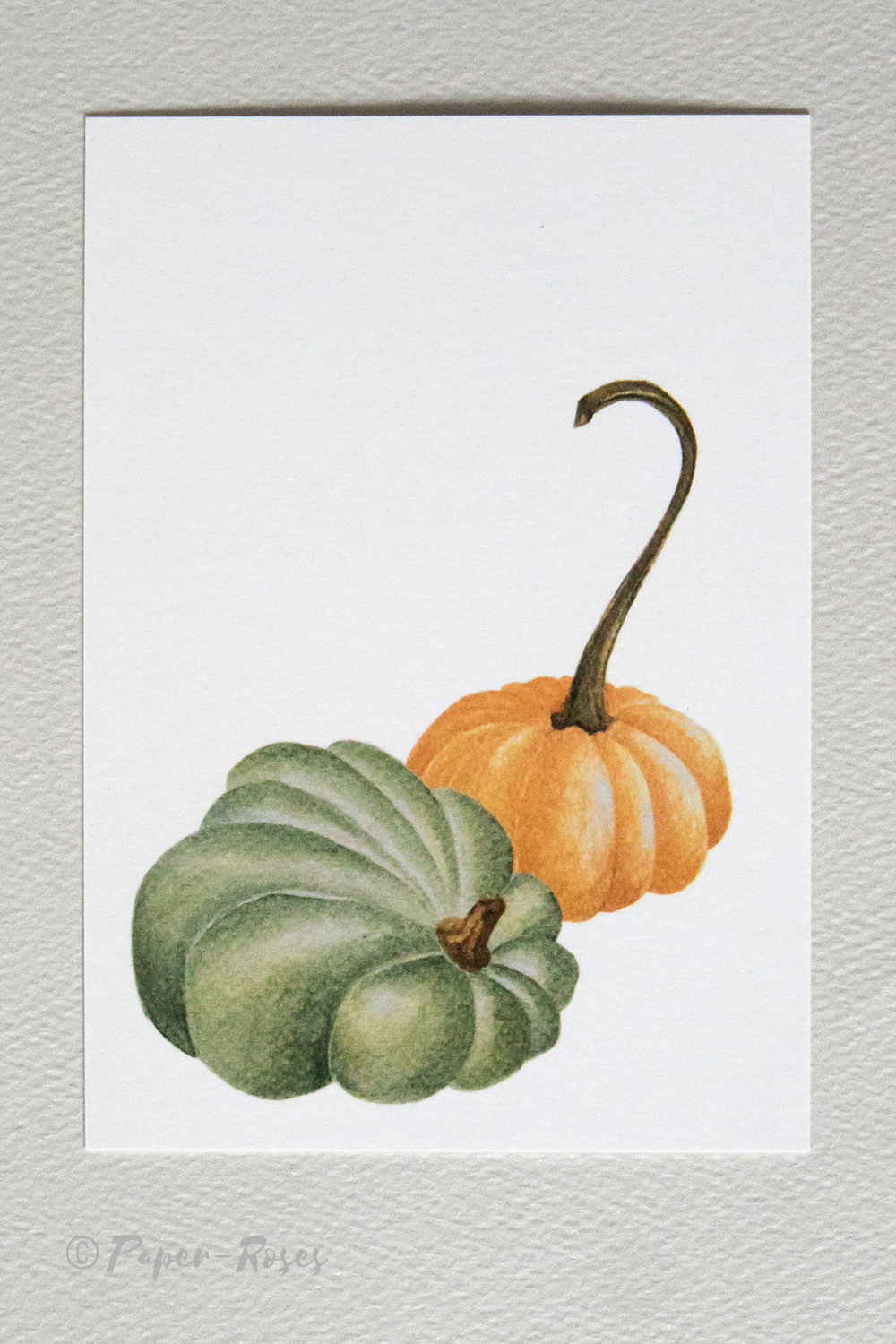 Paper-Roses | Note Cards | Pumpkins note card