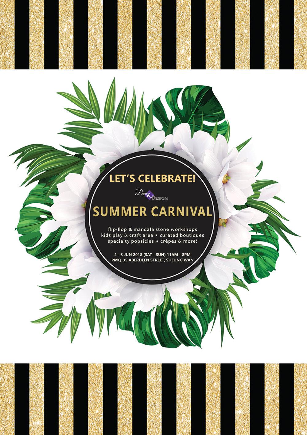 Paper-Roses   Events   Dine & Design Summer Carnival 2-3 June 2018