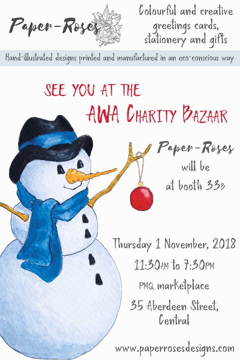 Paper-Roses | Events | AWA Charity Bazaar, 1 November 2018