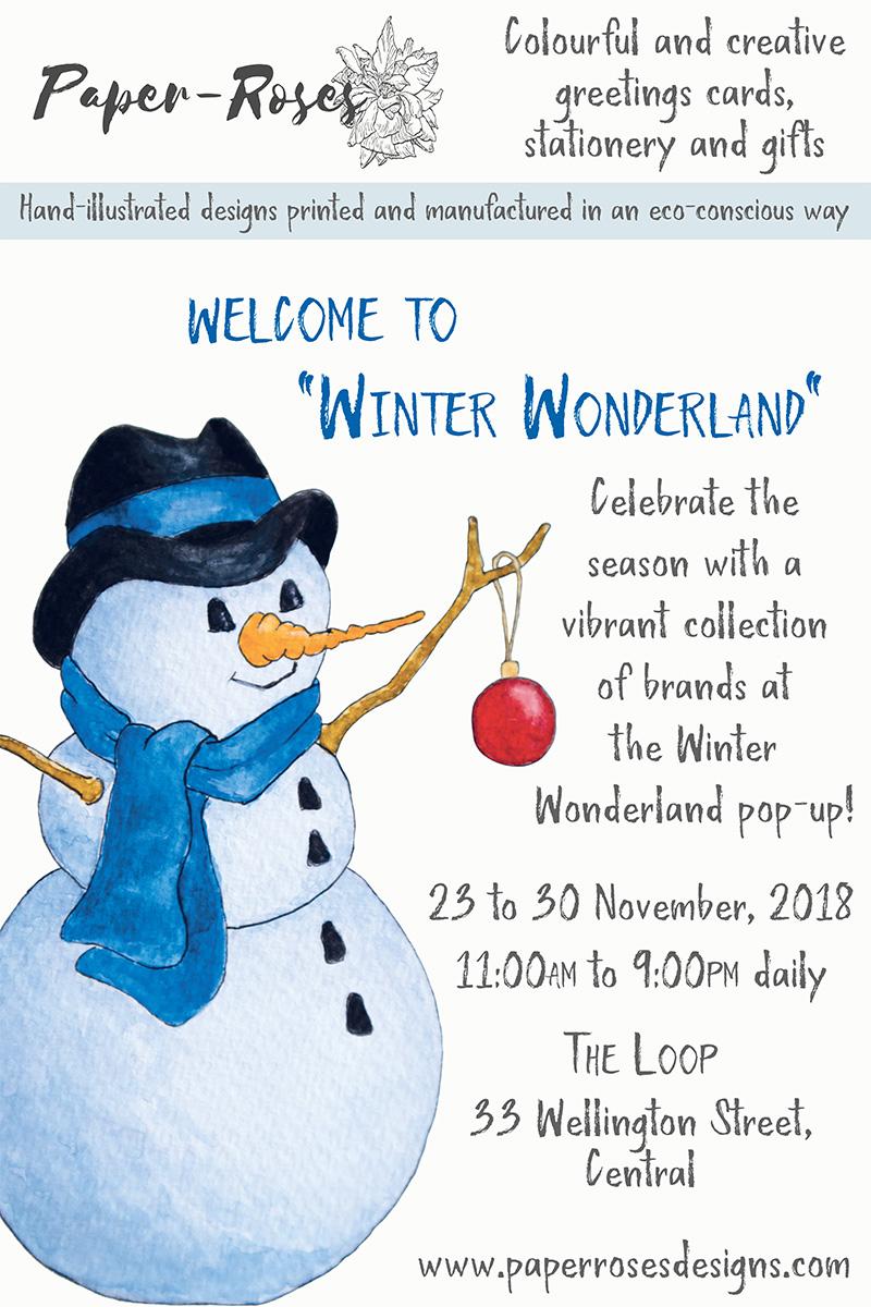 Paper-Roses | Events | Winter Wonderland Pop-Up | 23 to 30 November 2018