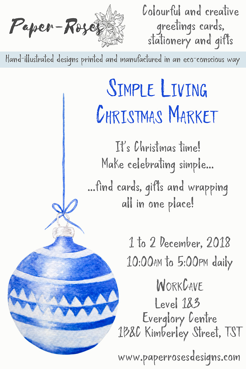 Paper-Roses | Events | Simple Living Christmas Market | 1 to 2 December 2018